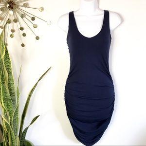 Tart navy blue modal open back wiggle dress S